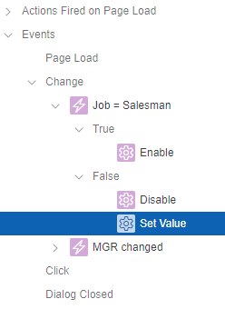Actions fired on page load