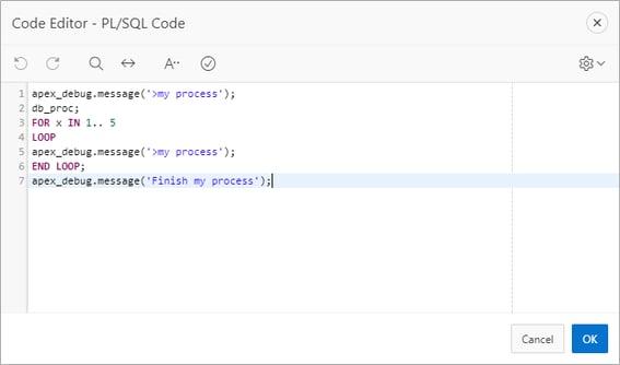 Code Editor - PL SQL Code