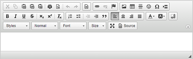 The updated APEX 5.0 Rich Text Editor