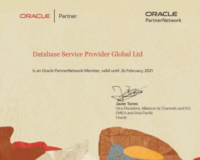DSP Modernised Oracle Partner Certification