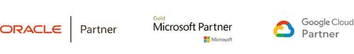 Oracle, Microsoft and Google Partner logo