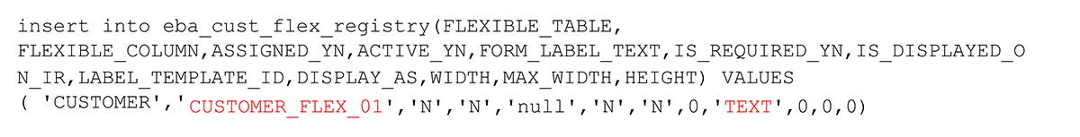 Flexible Field functionality
